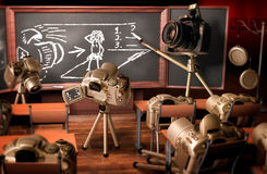 Photography lesson. Funny image about teaching photography Royalty Free Stock Photo