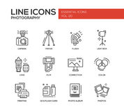 Photography line design icons set Royalty Free Stock Photography