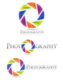 Photography logo aperture Stock Photo