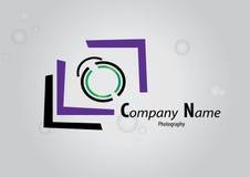 Photography camera company logo vector Royalty Free Stock Image