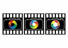 Photography logo design, camera logo set. An illustration of a photography logo design, camera logo set, photography element design eps 10 Stock Images