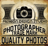 Photography Logo Design Template. Retro Vector Badge. Photo Stud Stock Image