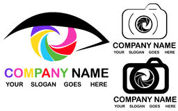 Photography logo. Image with a eye, photography logo Stock Photos