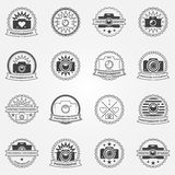 Photography logo or labels templates Stock Images