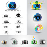 Photography logo set Stock Photos