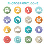 Photography long shadow icons Stock Photos