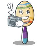 Photography maracas character cartoon style Stock Image