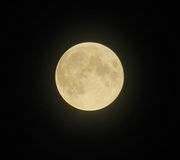 Full moon in black sky royalty free stock images