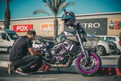 Photography of a Motorcycle Royalty Free Stock Photo