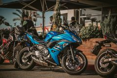 Photography of Motorcycles Parked on the Street Stock Image