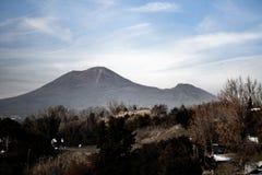 Mount Vesuvius seen from Pompeii stock photos