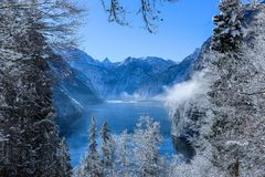 Photography of Mountain Range During Winter Royalty Free Stock Image