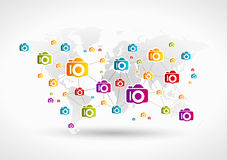 Photography network Royalty Free Stock Photos
