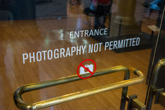 Photography not Permitted Royalty Free Stock Photo