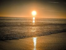Photography of Ocean during Sunset Stock Images