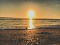 Photography of Ocean during Sunset Stock Image