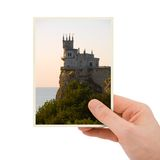 Photography of old castle in hand Stock Photo