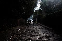 Roman road outside the city. royalty free stock photo