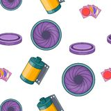 Photography pattern, cartoon style. Photography pattern. Cartoon illustration of photography vector pattern for web Royalty Free Stock Image