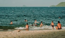 Photography of People Swimming in the Beach Stock Photography