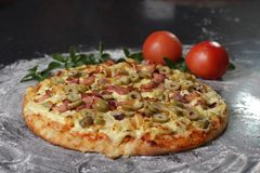 Photography of Pizza With Olive Toppings Royalty Free Stock Image