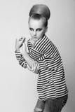 Photography from portfolio vogue model. Black and white photography from portfolio vogue model. studio shoot Stock Photos