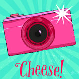 Photography poster with vintage camera and text Royalty Free Stock Images