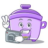 Photography rice cooker character cartoon Stock Photography