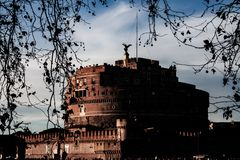 Photography of the Sant`Angelo`s castle, Rome. stock photography