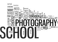 Is Photography School Your Dream Text Background  Word Cloud Concept. IS PHOTOGRAPHY SCHOOL YOUR DREAM Text Background Word Cloud Concept Stock Photo