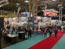 The Photography Show, Birmingham, UK, March, 17, 2019: The main show floor at The Photography Show in Birmingham. stock photography
