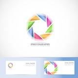 Photography  shutter aperture logo. Vector logo template of photography shutter aperture logo Stock Photography