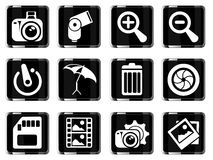 Photography Silhouette Icons Royalty Free Stock Photo