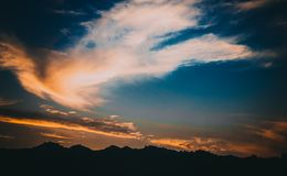 Photography of Sky During Dawn Royalty Free Stock Photography