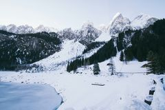 Photography of Snowy Mountains Stock Images
