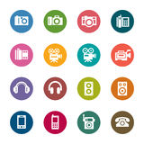 Photography and Sound Color Icons Royalty Free Stock Image