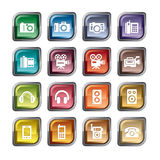 Photography and Sound Icons Stock Photo
