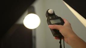 Photography Studio Lighting stock footage