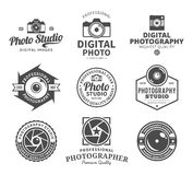 Photography Studio Logo, Labels, Icons and Design Elements Stock Image