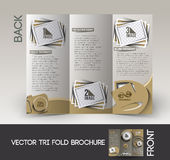 Photography Studio Tri-Fold Brochure Royalty Free Stock Image