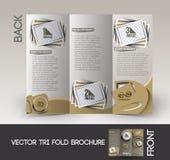 Photography Studio Tri-Fold Brochure Royalty Free Stock Image