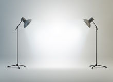 Photography Studio With A Light Stock Images