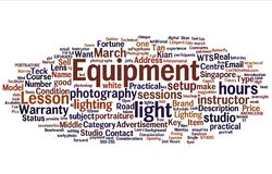 Photography Tag Cloud Royalty Free Stock Photo