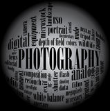 Photography tag cloud Stock Image