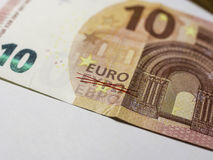 Photography of ten Euro note. Stock Image