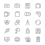 Photography Thin Icons Royalty Free Stock Images