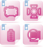 Photography Icons Set. Photography tools & equipment icons set, pictured here from left to right Royalty Free Stock Images