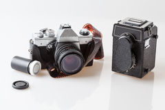 Photography tools, old cameras Stock Photography