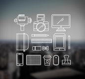 Photography tools outline vector Royalty Free Stock Photos
