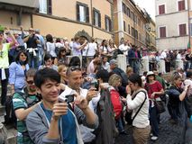 Photography at the Trevi Fountain Royalty Free Stock Photography